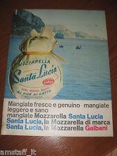 *GALBANI MOZZARELLA SANTA LUCIA=1961=PUBBLICITA'=ADVERTISING=WERBUNG=PUBLICITE=