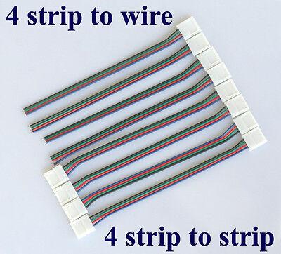 8X 4 Pin LED SMD RGB Schnellverbinder Stecker Verbinder 15cm Adapter Kabel