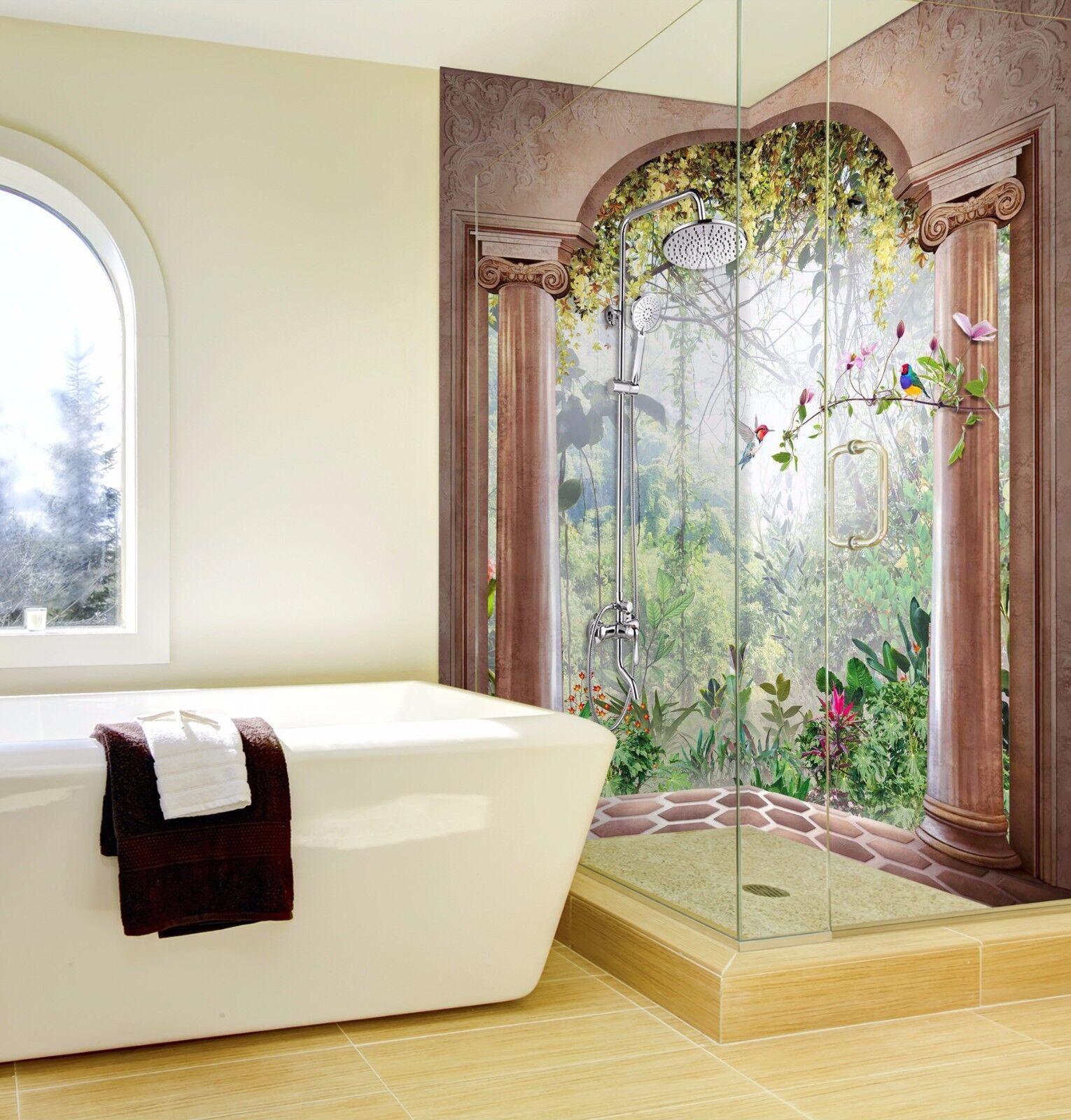 3D Forest Bird 647 Wallpaper cuarto de baño impresión impresión impresión Calcomanía Pared Deco AJ Wallpaper au adb117