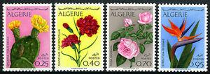 Algérie 411-414, MNH Fleurs: Ficus , Oeillets, Roses, Bird-Of-Paradise, 1969
