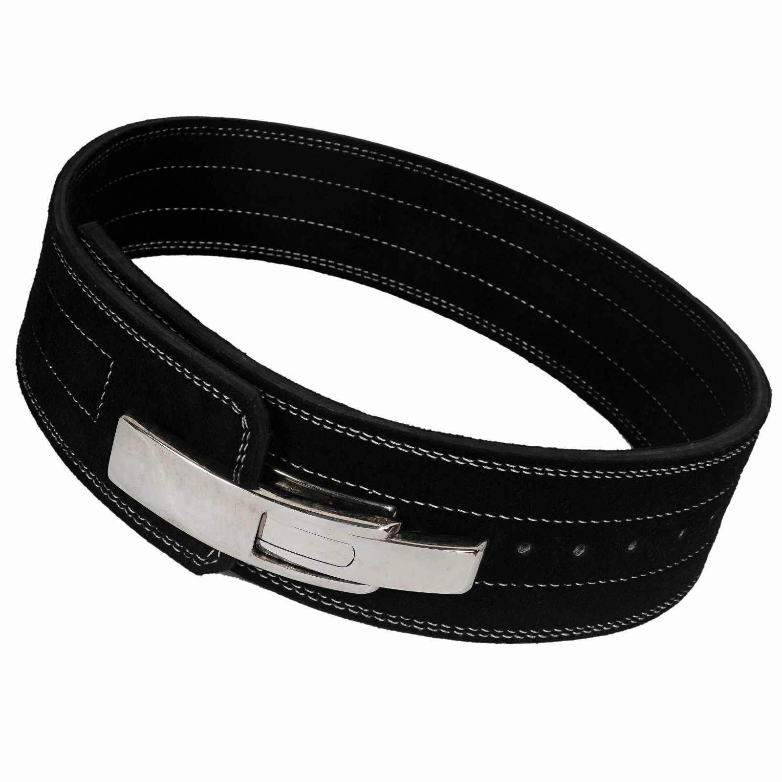PowerLifting Leather Lever 10mm Power Lifting Belt (MED)  Training Powerlifting  large selection