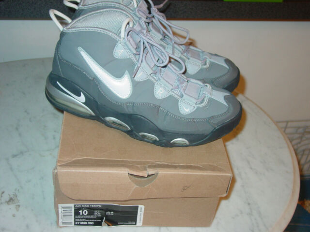 2011 Nike Air Max Tempo Cool GreyWhiteDark Grey Basketball Shoes Size 10 wBox