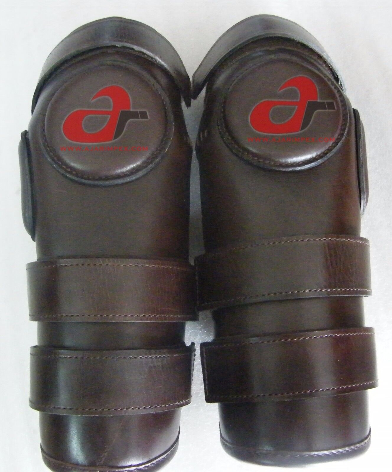 3 Strap Polo & Ridding Knee Guards-Leather and Padded 100% Real Leather-