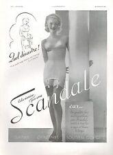 ▬► PUBLICITE ADVERTISING AD GAINE SCANDALE BAS LINGERIE 1938