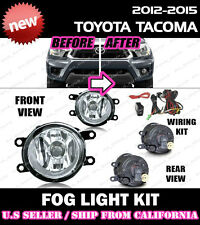 12 13 14 15 TOYOTA TACOMA Fog Light Driving Lamp Kit w/ switch wiring (CLEAR)