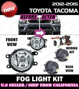 12 13 14 15 toyota tacoma fog light driving l kit w switch wiring clear ebay