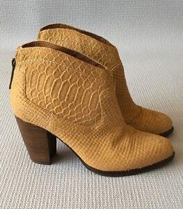 ab339354ff1 UGG Australia CHARLOTTE Moon Calf Hair Snake Ankle Boots 5M EU36 ...