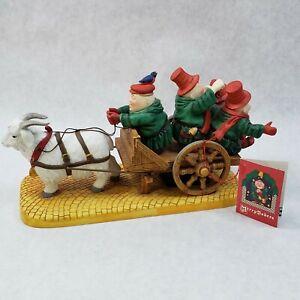 Dept-56-MERRY-MAKERS-Merrily-We-Roll-Along-Carolers-Gabriel-The-Goat-amp-Cart