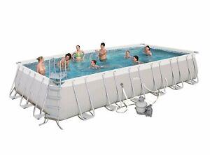 Bestway-24-039-x-12-039-x-52-034-Power-Steel-Rectangular-Above-Ground-Swimming-Pool-Set