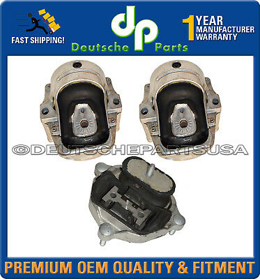 For Audi A4 Quattro 3.2L V6 Pair Set of 2 Engine Mounts Electric Premium