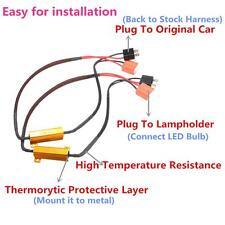 H7 50W Headlight Load Resistor Fog Lamp Decoder Error Free LED Canbus Connect