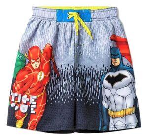 ce14df721182f Image is loading JUSTICE-LEAGUE-SUPERMAN-amp-BATMAN-Bathing-Suit-Swim-