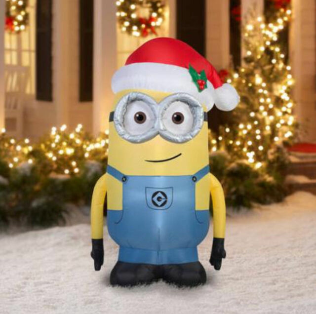 Deable Me Airn Minion Dave 5ft Christmas Lawn Inflatable By Gemmy