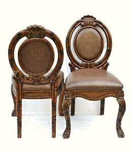 Incredible Details About Pair 2 Bamboo Asian Mid Century Style Side Chairs Armchair Dining Modern Vintage Spiritservingveterans Wood Chair Design Ideas Spiritservingveteransorg