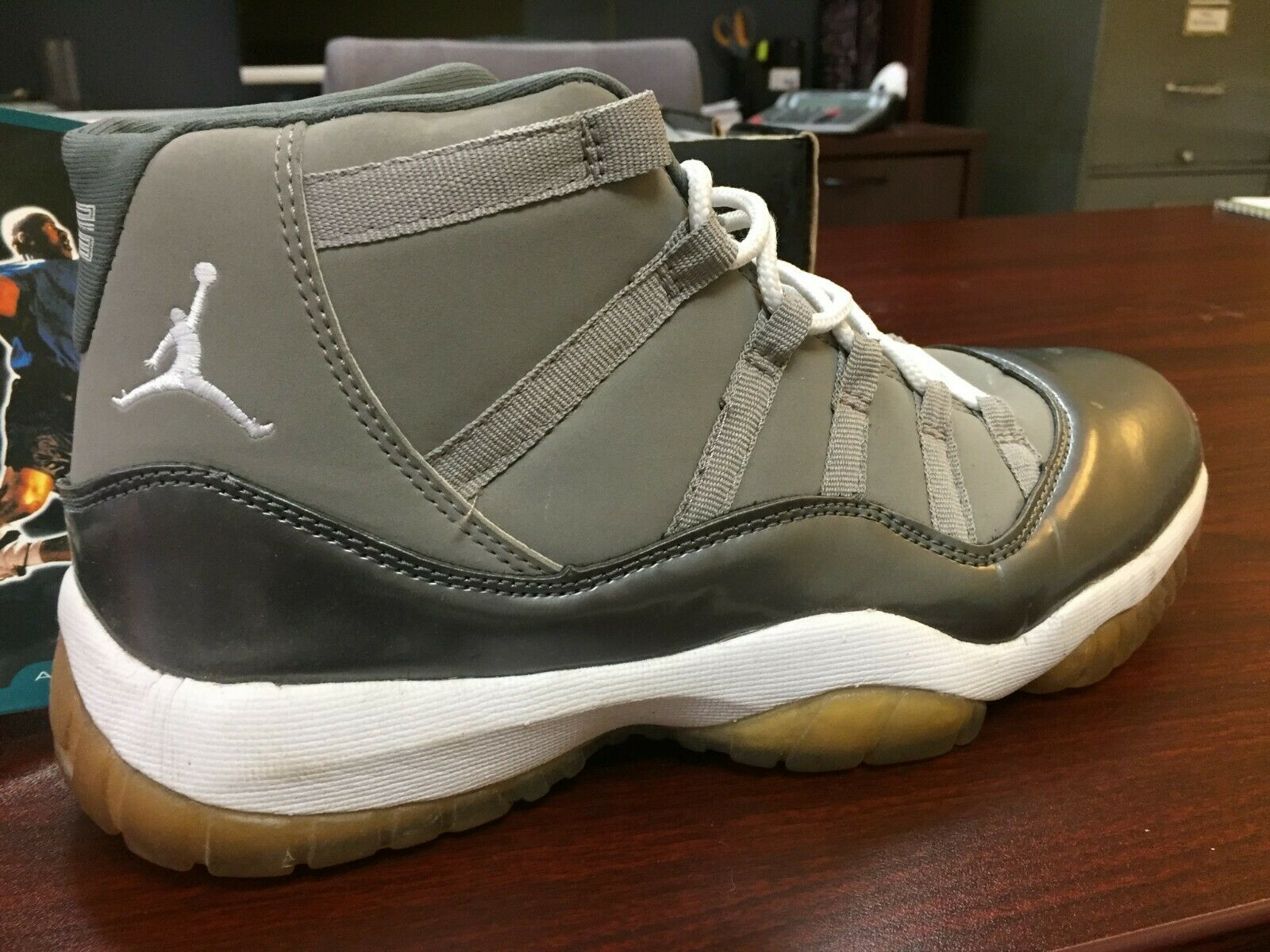 Nike Air Jordan IX Retro 11 1995 Grey High Top Sneakers Size 10
