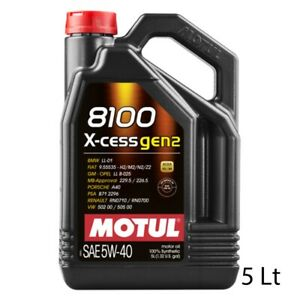 5 LT OLIO MOTORE AUTO MOTUL 8100 X-cess 5W-40 100% SINTETICO ACEA A3/B4