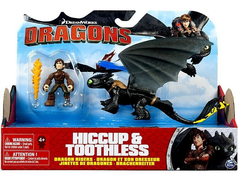 Dragons Dragon Riders Hiccup & Toothless Action Figure 2-Pack 2-Pack [Yellow Tail]