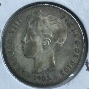 1902 Spain 1 One Peseta