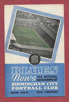 Aufrichtig Orig.prg Uefa Cup 1958/59 Birmingham - Zagreb 1/4 Finale !! Sehr Selten