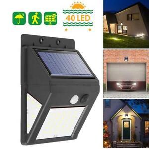 60-DEL-separable-Solar-Lights-Outdoor-PIR-Detecteur-de-mouvement-etanche-lampe-de-jardin