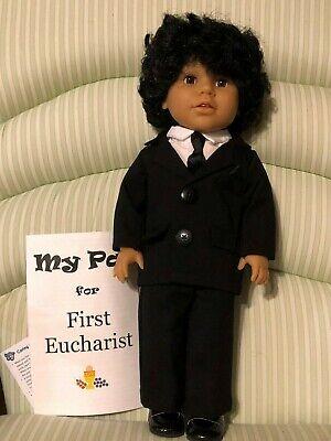 brown eyes medium skin 18 inch boy doll black hair My Pal the Patriot