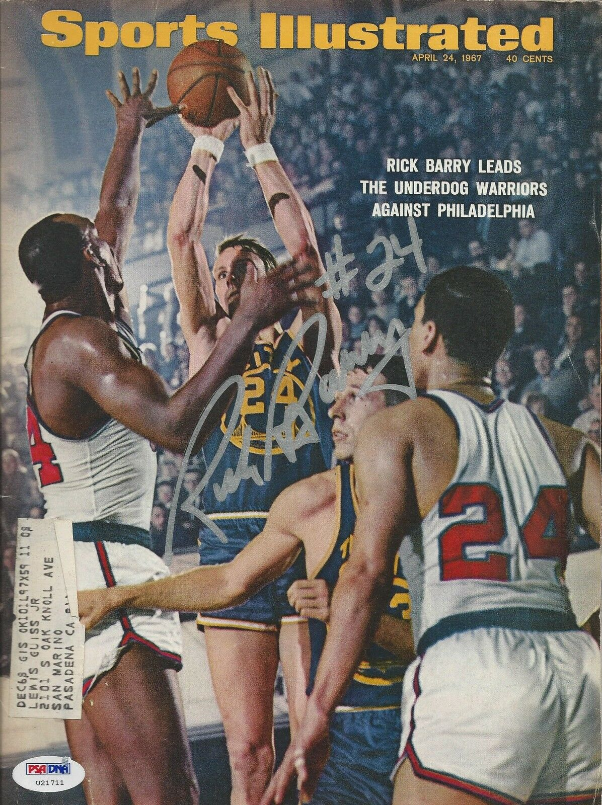 Ricky Barry Warriors signed 1967 Sports Illustrated Magazine PSA/DNA # U21711