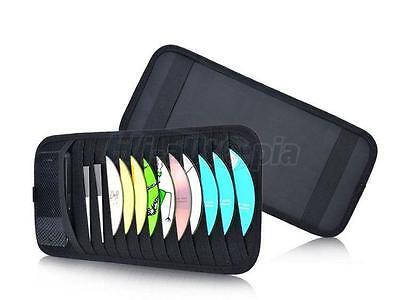 New Sun Visor 2-in-1 12 Disc CD DVD Holder Bag Pocket Car Accessories Black