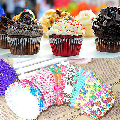 New Hot 100 PCS Paper Cake Cup Liners Baking Cup Muffin Kitchen Cupcake Cases