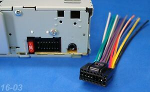 new jvc 16-pin radio wire harness car audio stereo power ... jvc equalizer wiring diagram #8