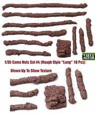 "1/35 Universal Camo Nets Set #4 ""Rough Style Long"" Value Gear 10pcs Resin"