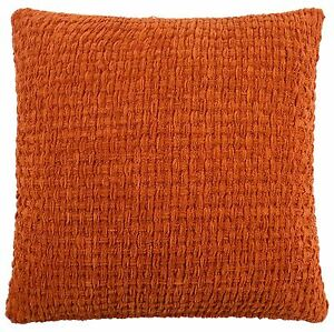 TERRACOTTA-ORANGE-THICK-BASKET-WOVEN-WEAVE-17-034-43CM-CUSHION-COVER