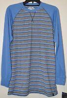 Street Rules Clothing Co Men's Blue Striped Long Sleeve Knit Shirt Sz M
