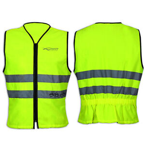 RKsports High Visability Motorcycle Bike Cycling Vest Waistcoat flouroscent Big Sizes