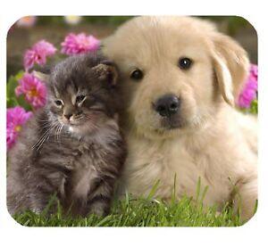 tapis de souris 122 animaux chat chaton chien chiot golden retriever ebay. Black Bedroom Furniture Sets. Home Design Ideas