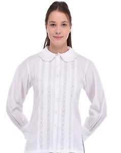 Cotton Plus White Size Collar Lace Blouse Peter Pan EEHRArqw