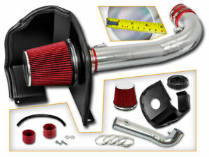 BCP RED For 2005-11 Toyota Tacoma 4.0 V6 COLD SHIELD AIR INTAKE KIT FILTER