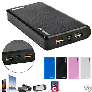 dual usb 5v 2a 18650 power bank ladeger t batterie. Black Bedroom Furniture Sets. Home Design Ideas