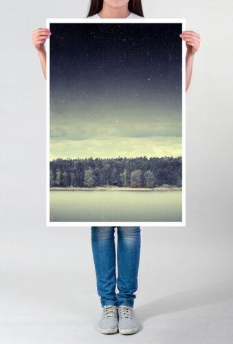 Landschaftsfotografie 60x90cm Poster  Sterne in Anthrazit