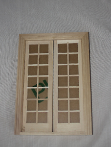 "1"" scale 112 miniature dollhouse double french door"
