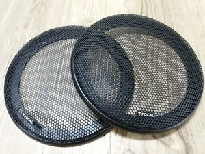 """2 FOCAL 6.5"""" FOR SPEAKERS COAXIAL COMPONENT GRILLS CAR AUDIO ONLY NEW"""
