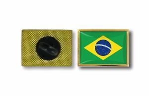Wholesale Pack of 3 Brazil Country Flag Bike Hat Cap lapel Pin