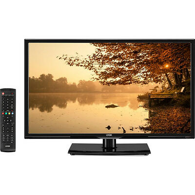 """LOGIK L24HED16 24"""" LED TV With Built-in DVD Player Black HD Ready 720p Freeview"""