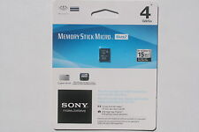 Sony Memory Stick Micro M2 Mark2 4Gb for PSP Go Brand New Factory Sealed RARE