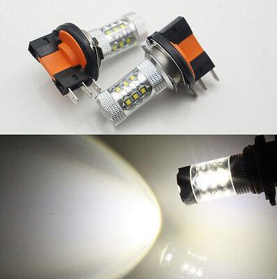 2PCS Xenon White 80W H15 CREE LED Bulbs Daytime Lights For Audi BMW Mercedes VW