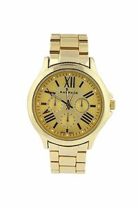 Rampage Women's Watch Classic Gold Tone Bracelet Quartz Analog Watch RP1020GD