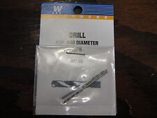"""Walthers Hobby Tools:  Drill Bits (pack of 2) .040""""  #60  947-60"""