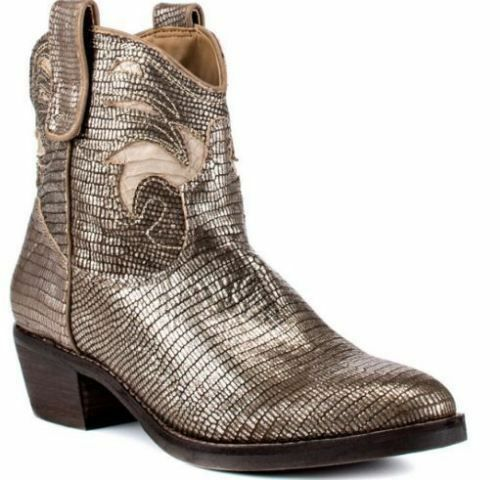 Sam Edelman Stevie Gunmetal Putty Cowboys Ankle Boots 7 NEW