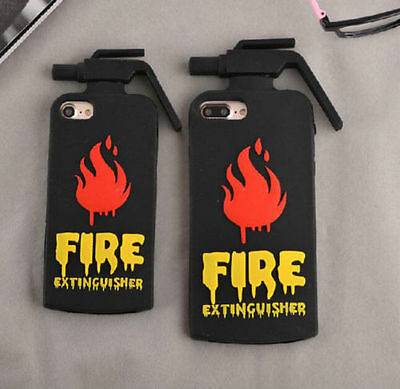 3D Cartoon Fire Extinguisher Silicone Rubber Gel Case Cover for iPhone 6 7 Plus