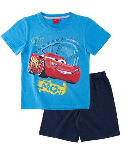 Disney Cars Pyjama Garçon Manches Courtes Pyjama Bleu Blanc 98 104 110 116 128 NOUVEAU