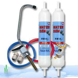 Aqua cure d'eau gem filtre & Système Robinet Inline eau potable avec 2 filtres, 1 an  </span>